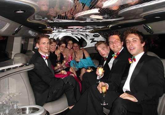 Proms and Formals Limousine Service for Napa-Sonoma